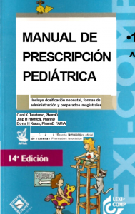 Book Cover: Manual de Prescripción Pediatrica